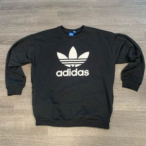 [adidas] Black Crewneck Sweatshirt